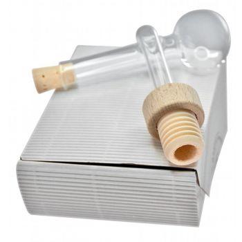 Glasausgießer mundgeblasen & Holzgriffkorken