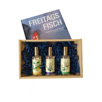 """3er Gourmet Spray-Set """"herzhaft"""" inkl. """"Freitags Fisch"""" von Sternekoch Harald Rüssel"""